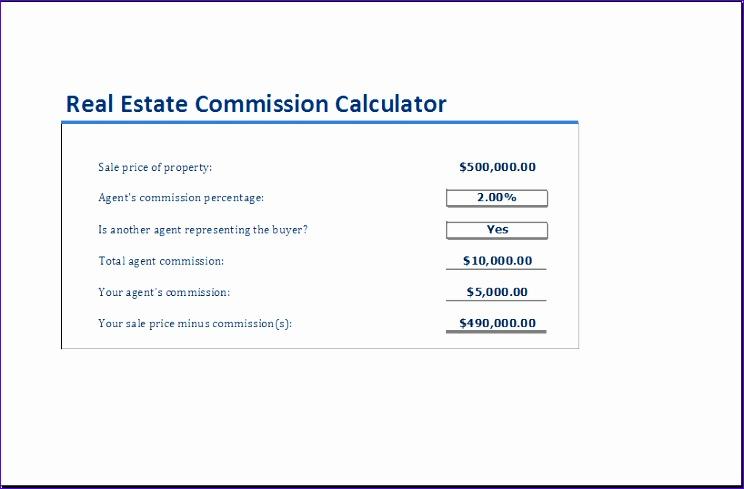 real estate mission calculator