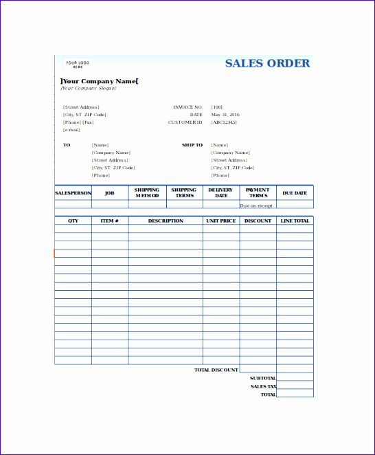 Sales Order Form Template Excel1