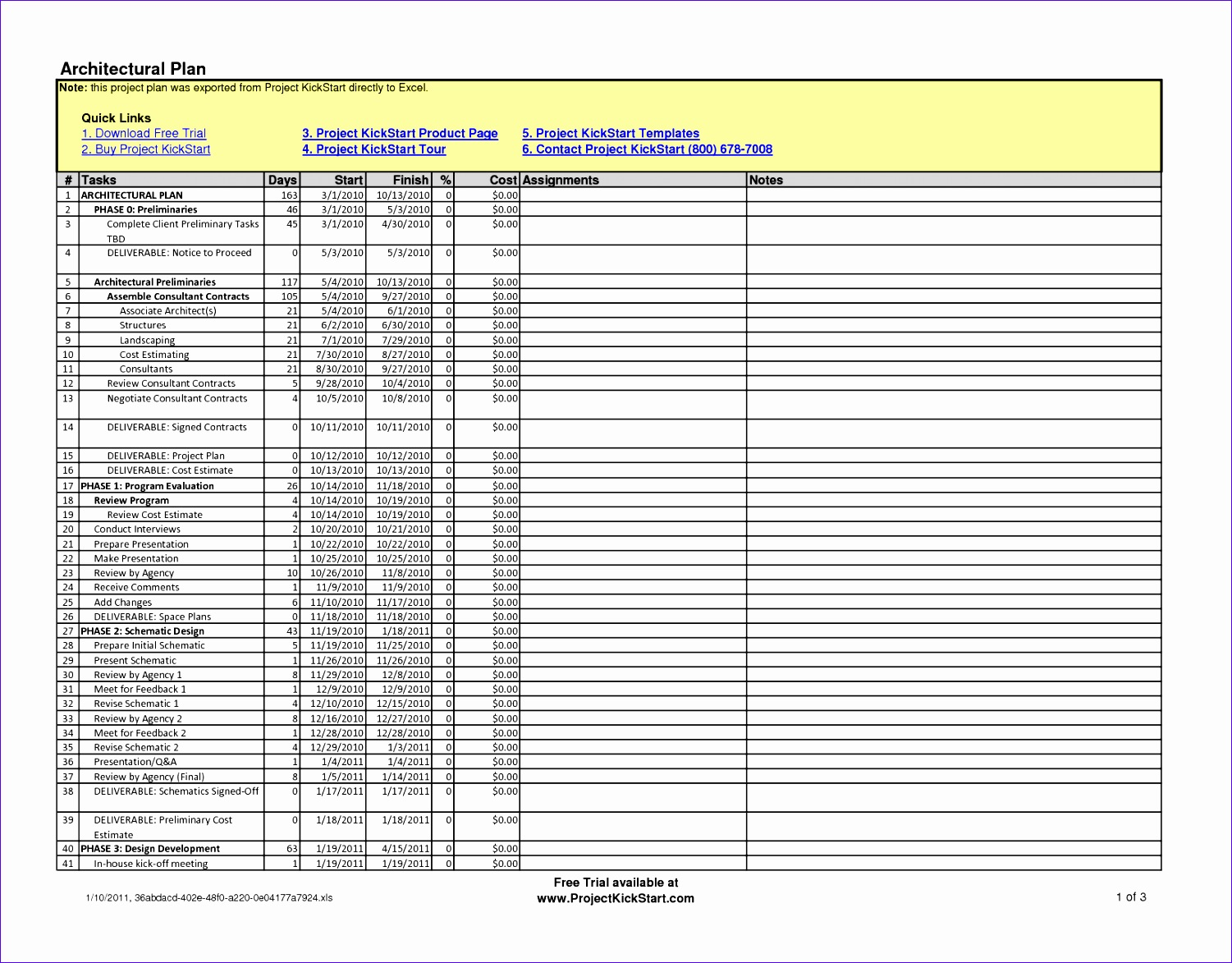 Project Plan Excel Template Download