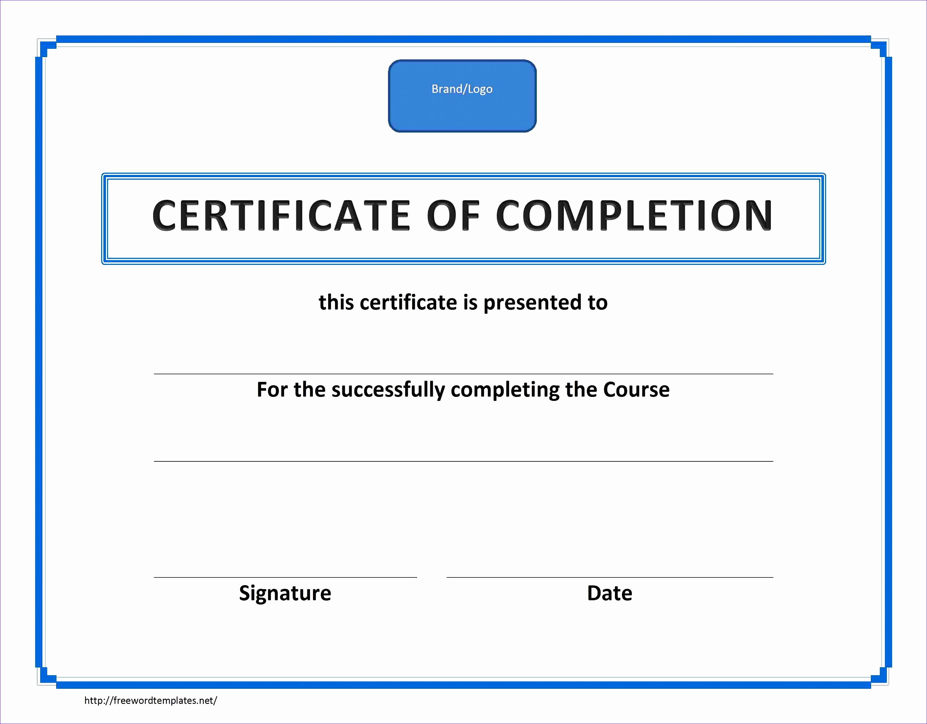 Training Certificate of pletion Landscape Default MS Word Border 21