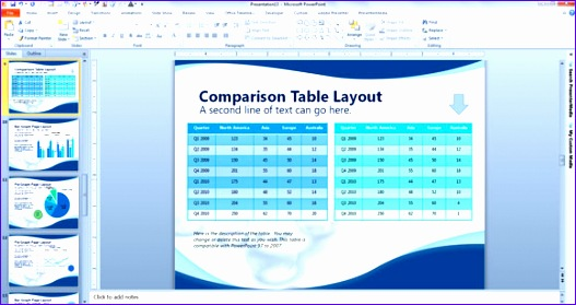 parison table sample powerpoint1