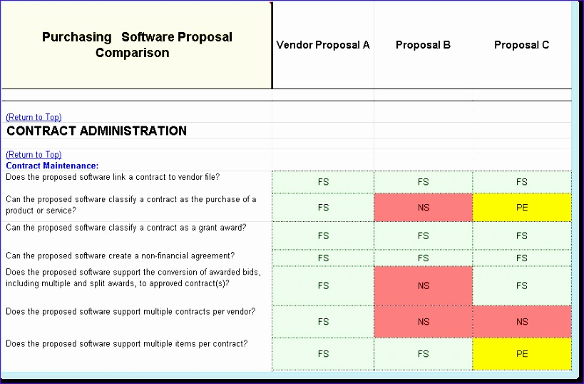5 side by side comparison template excel exceltemplates