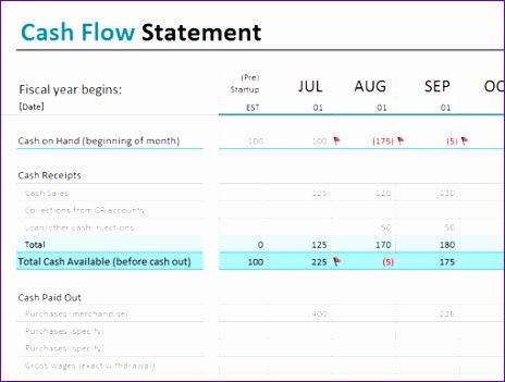 14 simple cash flow template excel exceltemplates for Uca cash flow excel template
