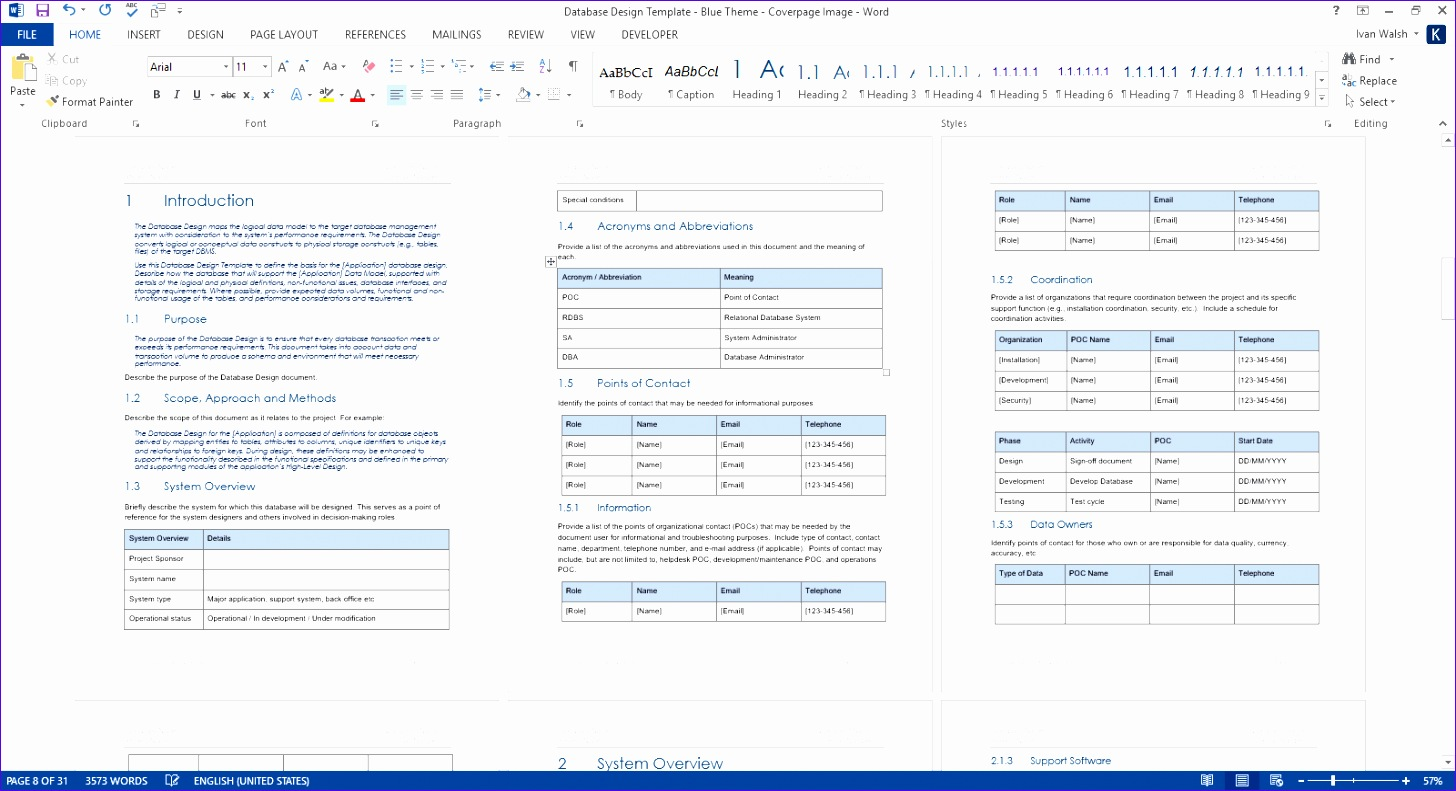 9 simple excel database template exceltemplates for Database documentation template