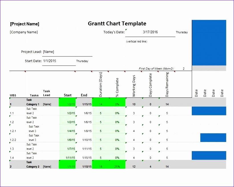 Grantt Chart Template 01