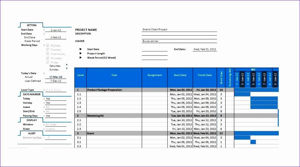 Grantt Chart Template 10 1