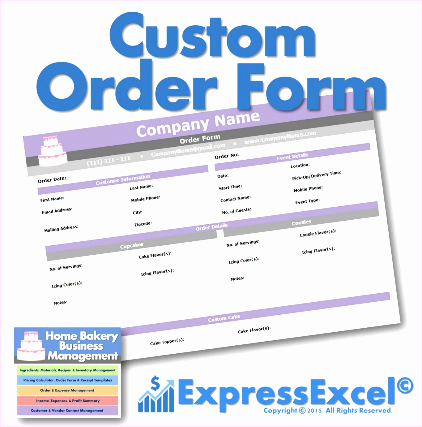 Simple Excel Project Management Template Iwjda Lovely Cake Cupcake and Cookie Decorating Business Printable order