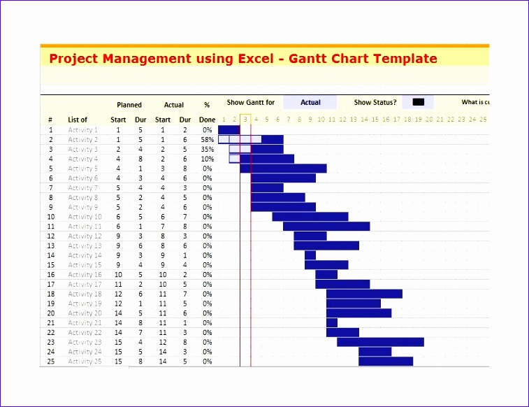 Free Simple Gantt Chart Excel Template