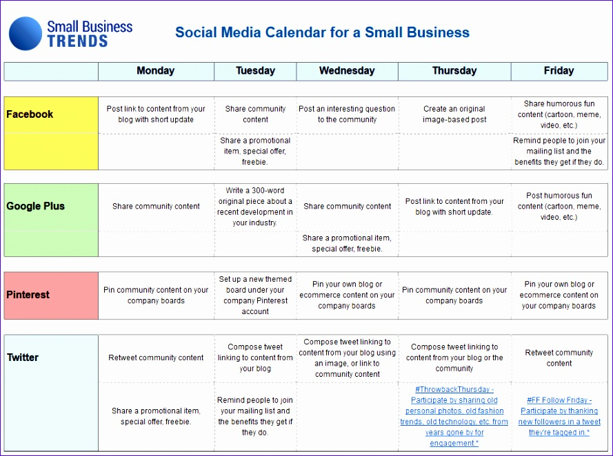 Social Media Calendar Template Excel C8wts Awesome social Media Calendar Template for Small Business