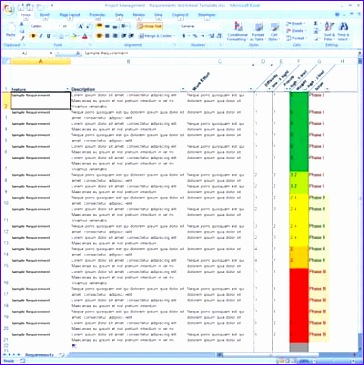 Software Requirements Template Excel Gvvyw Inspirational Requirements Tracking Spreadsheet