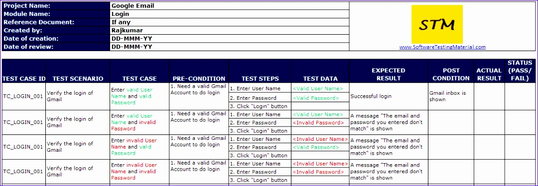 Software Test Case Template Excel Vkfjw Best Of Ieee Sample Test ...