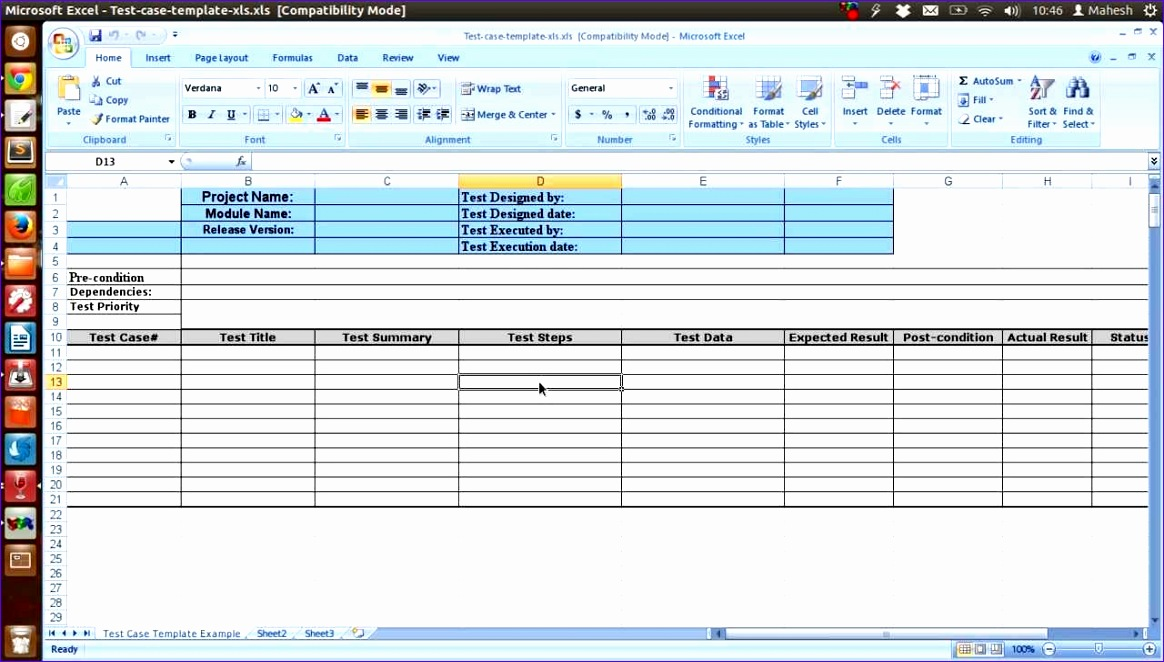Software Test Plan Template Excel  Exceltemplates  Exceltemplates