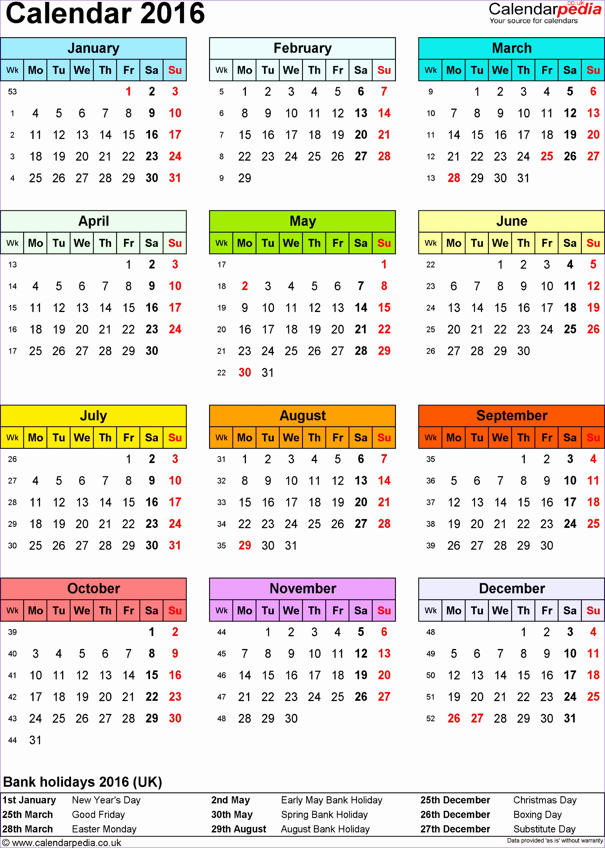 Staff Rota Template Excel Oojkx New Calendar 2016 Uk with Bank Holidays & Excel Pdf Word Templates