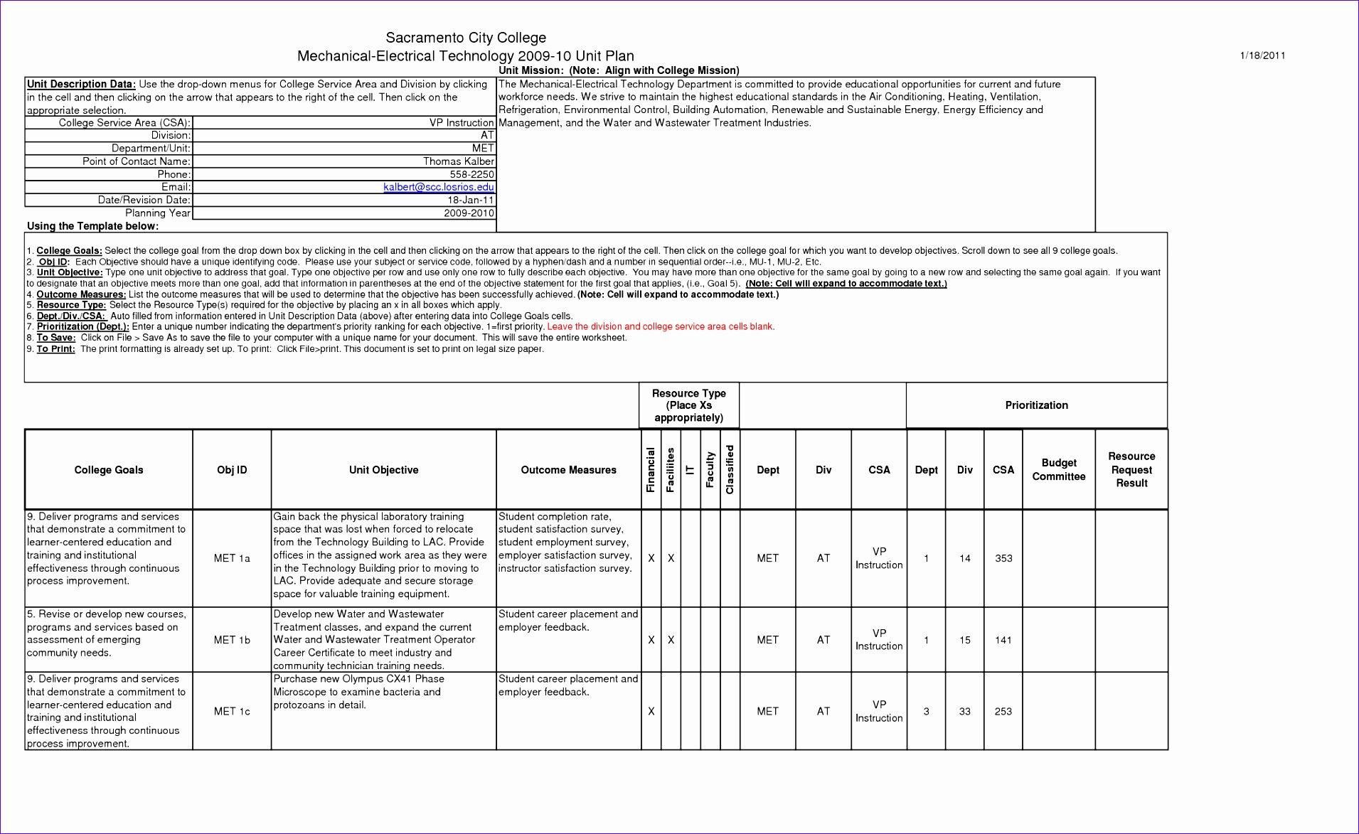10 standard work instructions excel template