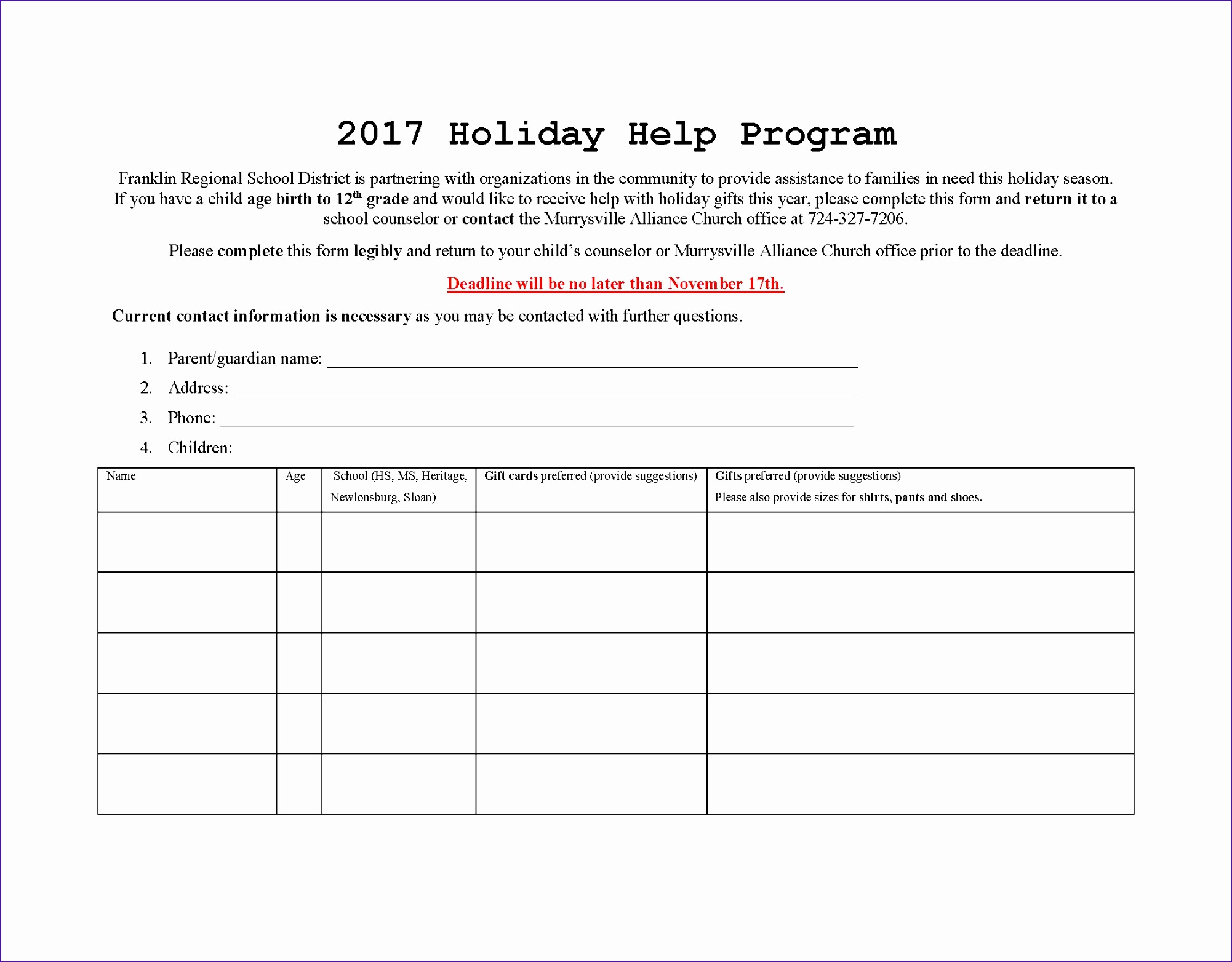 2017 Holiday Help Program pdf