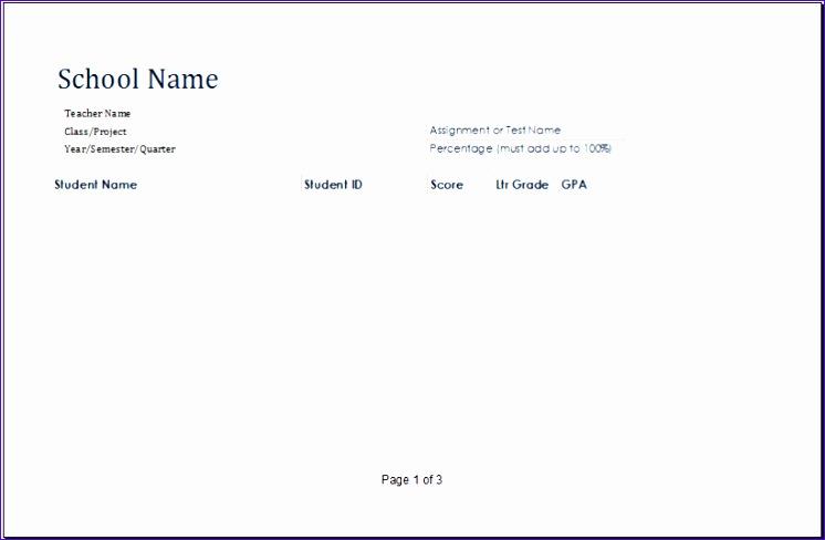 student grade book template 820x531