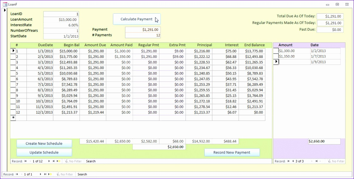 12 student loan repayment excel template