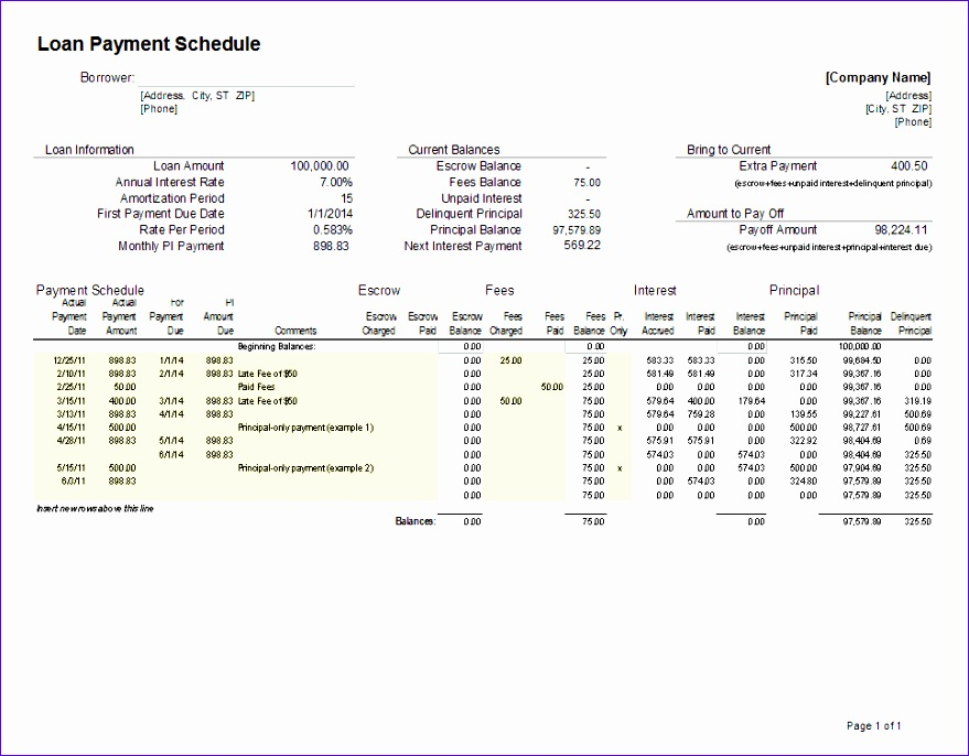 Student Loan Repayment Excel Template Uardl Inspirational Loan Amortization Schedule and Calculator