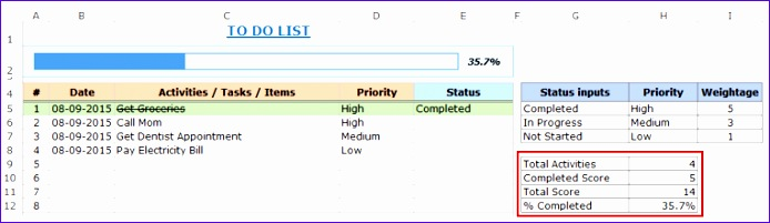 Free Excel To Do List Template Download