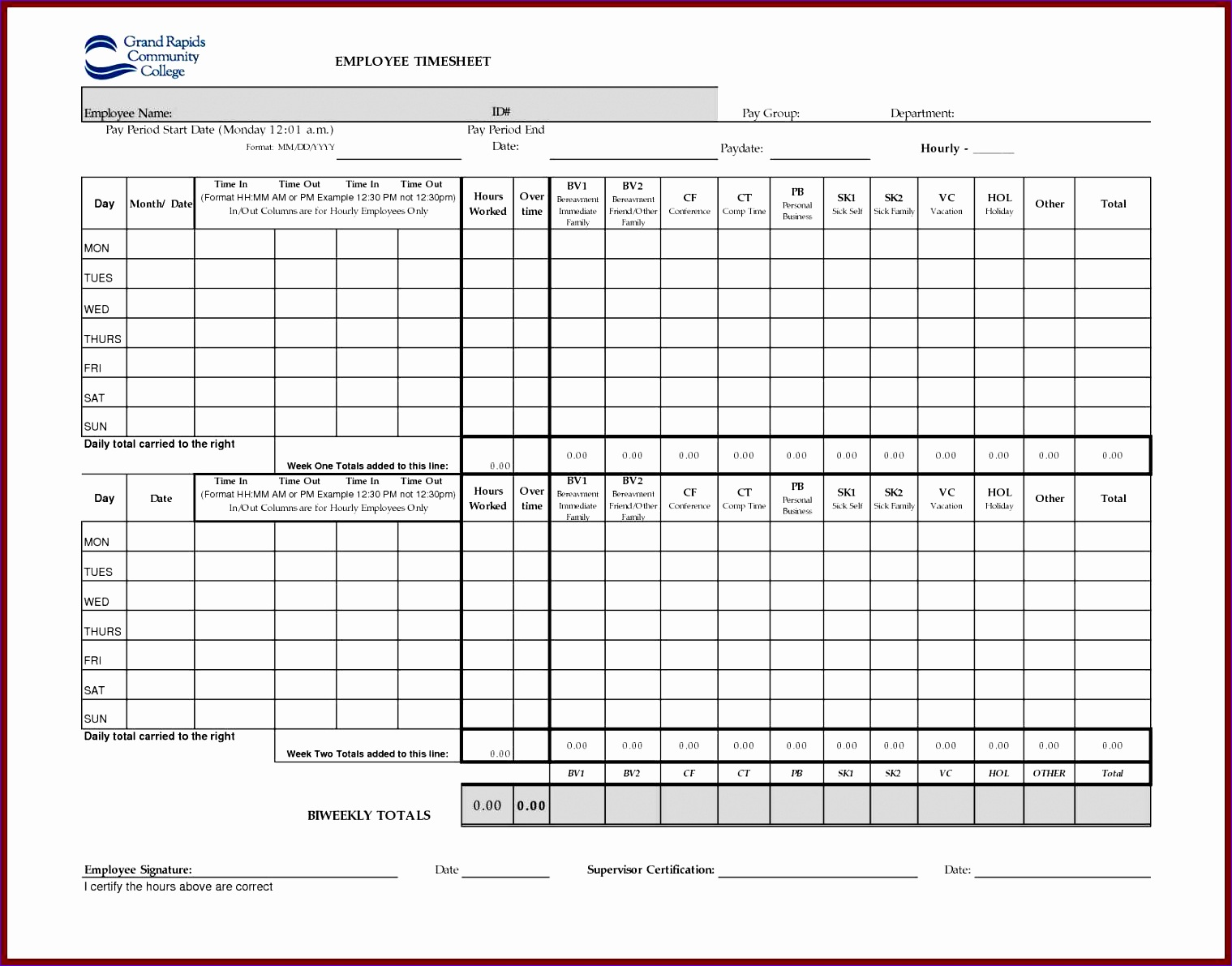 timesheet template excel uk