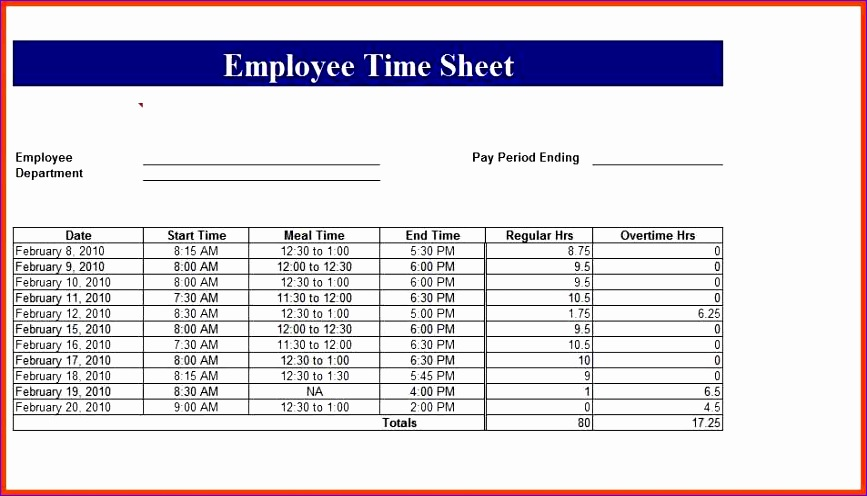 time card excel employee time card template excel