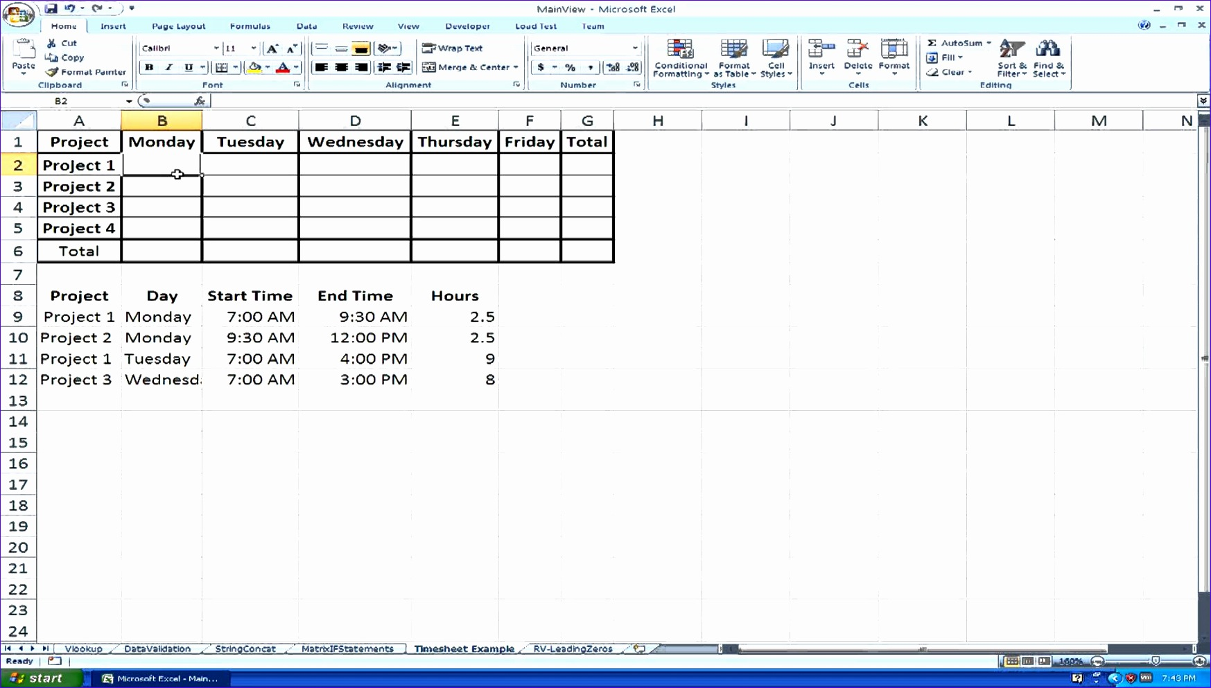 10 timesheet calculator excel template - exceltemplates