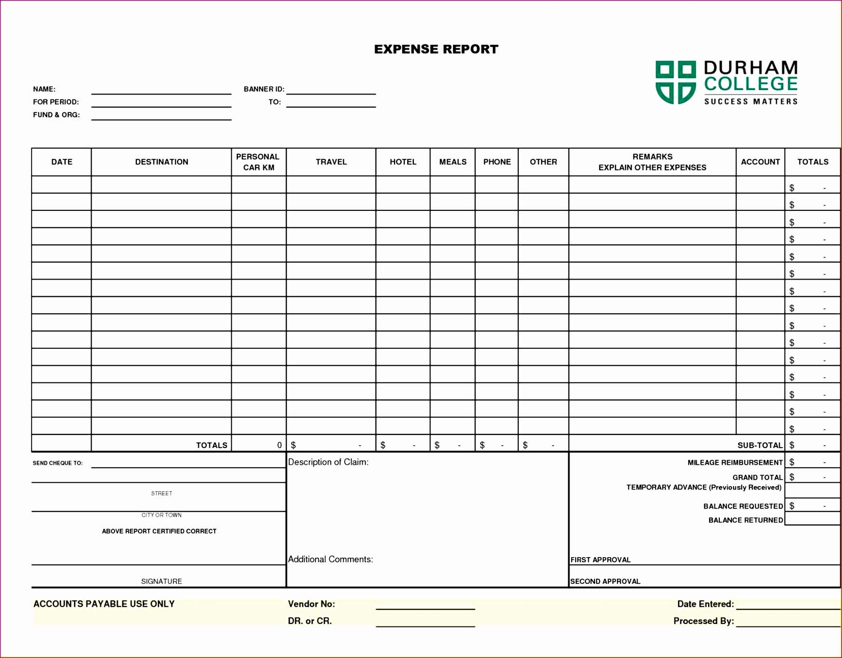 Travel Expense Report with Mileage Log Kefeu New Expense Report Template