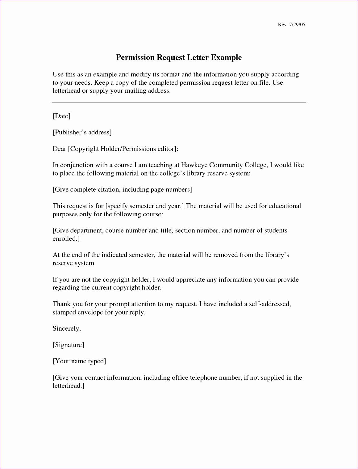 request permission letter sample