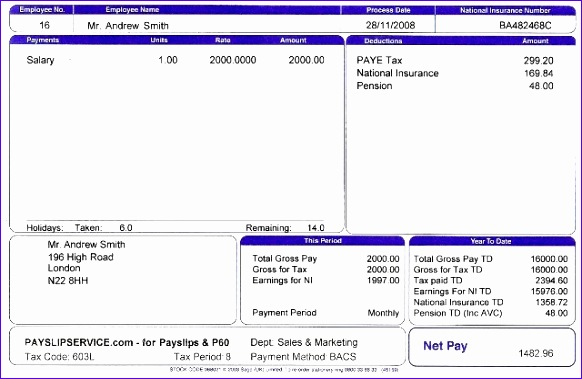 Free ...  Pay Slip Templates