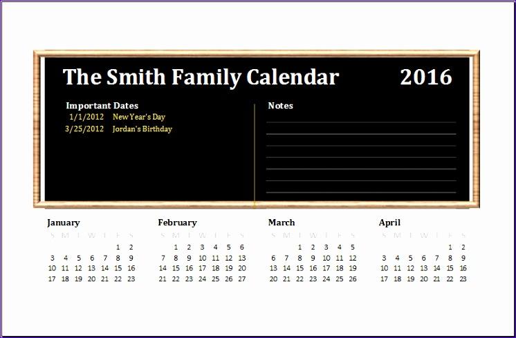 family calendar 820x532