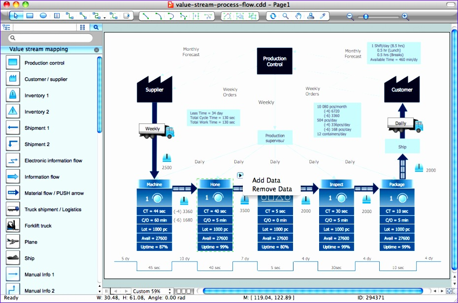value stream process flow software
