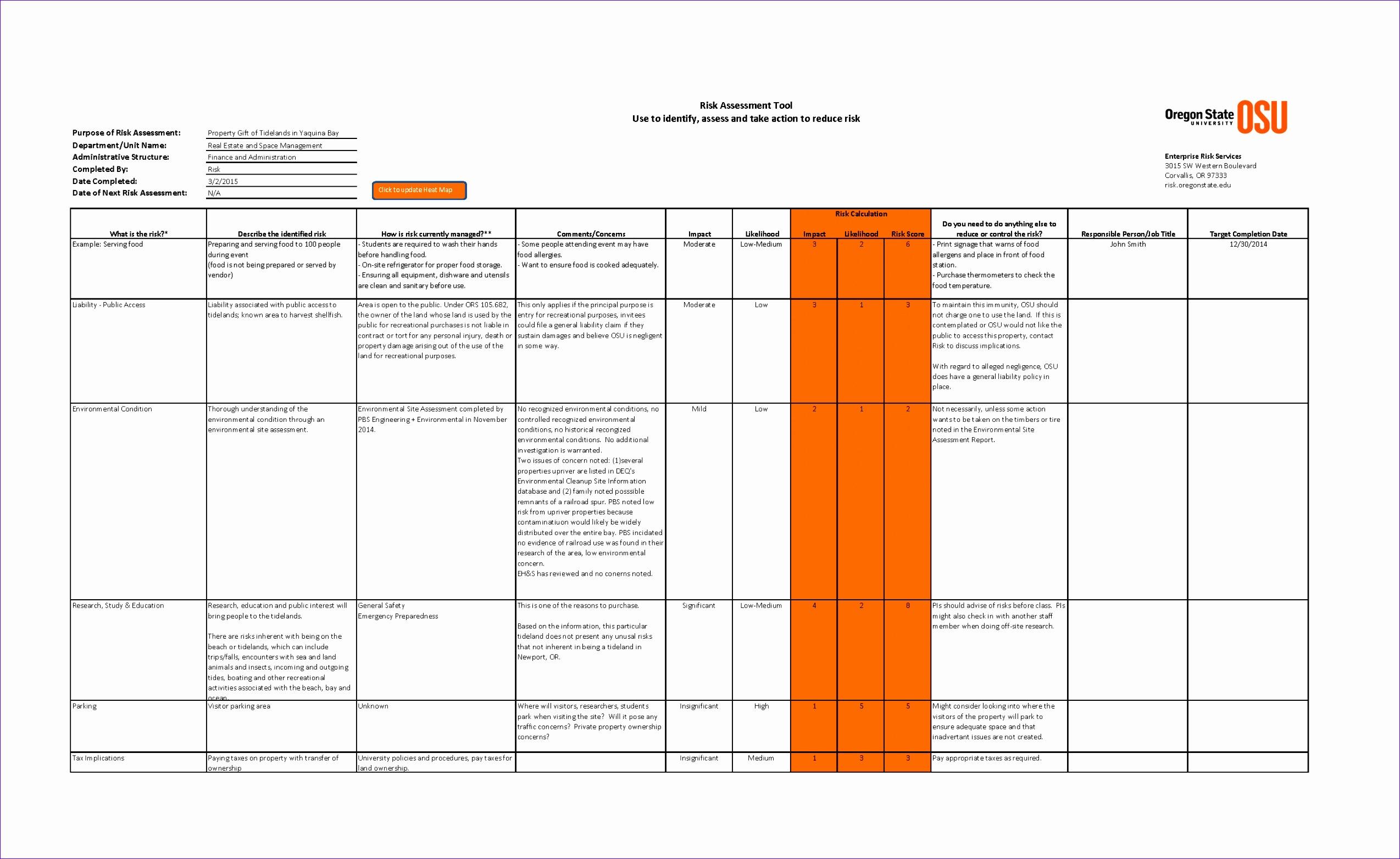 Vendor Management Excel Template Sgfcc Elegant Risk assessment tool › Risk Management