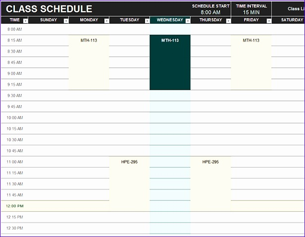 beautiful volunteer schedule template template galery