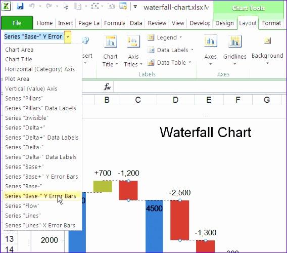 selecting series via chart tools ribbon