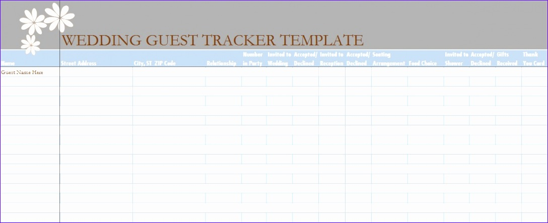 Wedding Guest List Template Excel Download Ervfk Unique Wedding Guest List Template In Excel Excel Tmp