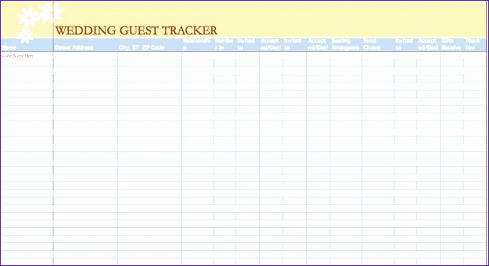 Wedding Guest List Template Excel Download Jpafr Lovely Wedding Guest List Template Free] 7 Free Wedding Guest List