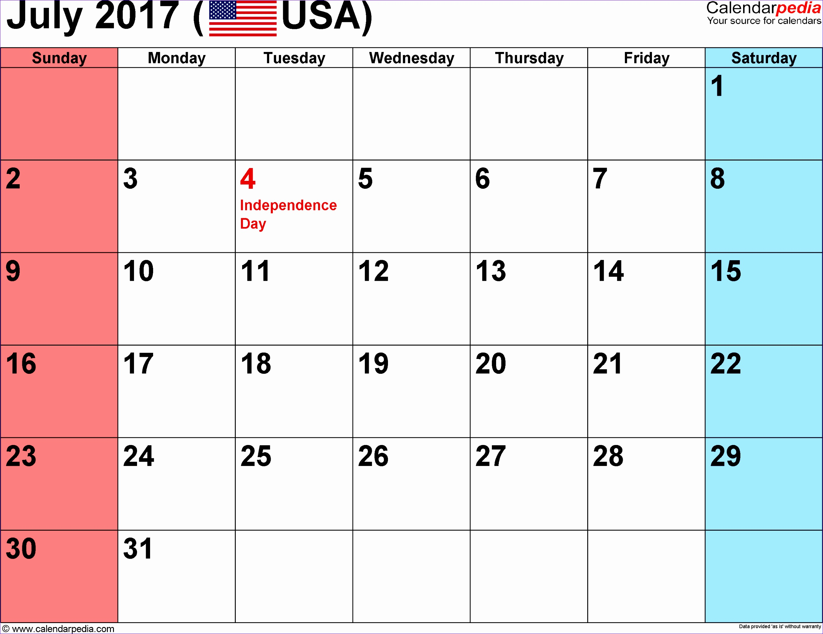 Week Calendar Template Excel Eozsd Awesome July 2017 Calendar Printable with Holidays