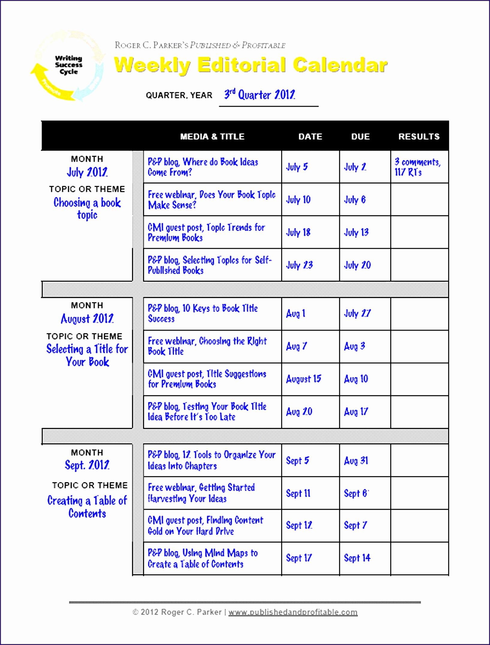 Week Calendar Template Excel Iqigp Elegant Editorial Calendar Template