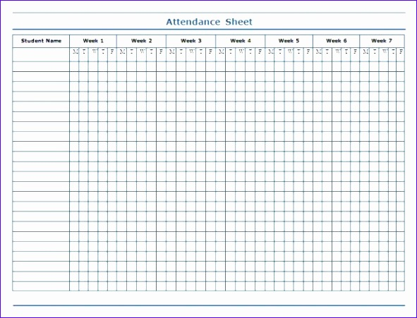 Weekly attendance Sheet Template Excel Bdawf Unique Minimalist Template Of Weekly attendance Sheet In Excel for