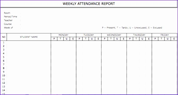 Weekly attendance Sheet Template Excel Bdckh Fresh Weekly Staff attendance Sheet Template Selimtd