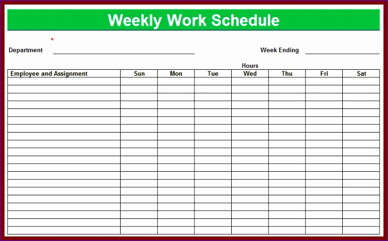 9 weekly employee shift schedule template excel