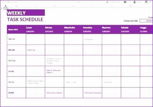 reliable weekly task list template for all your scheduling needs 580x400