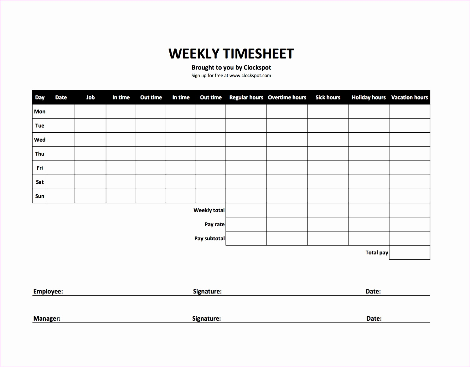 Weekly Time Sheets Jwwcl Lovely Free Time Tracking Spreadsheets