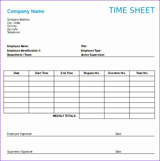 Weekly Timesheet Template. Weekly Timesheet Template Weekly ...