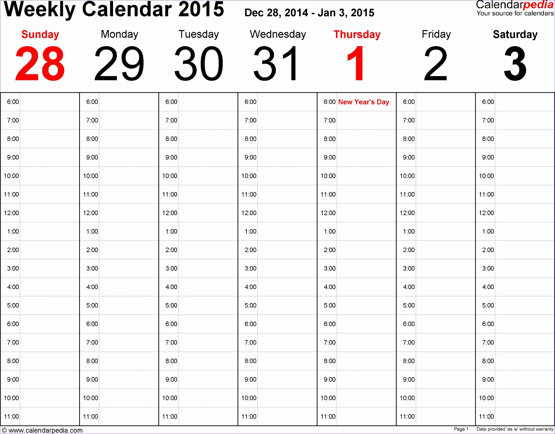weekly calendar excel week calendar 2015 WdISDQ