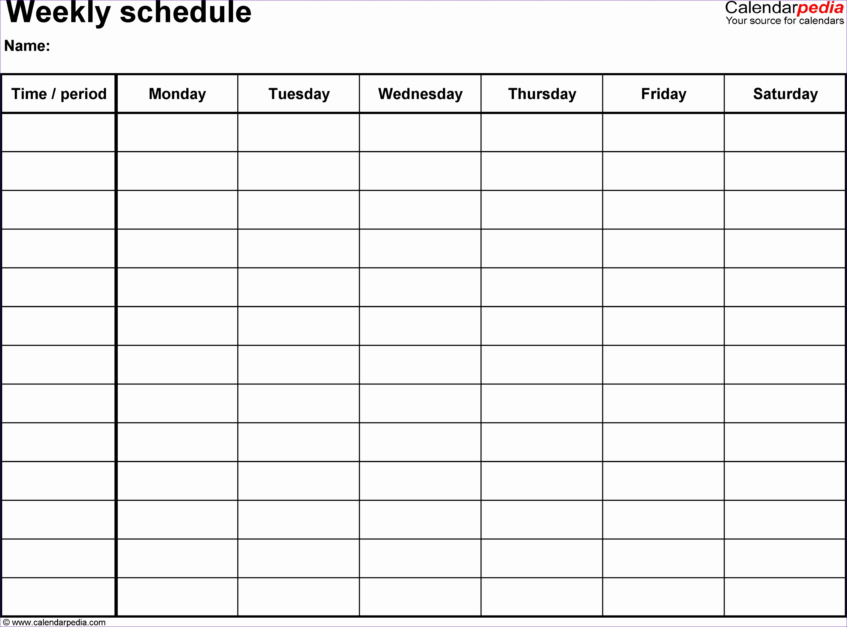Work Roster Template Excel Udzog Inspirational Free Weekly Schedule Templates for Excel 18 Templates