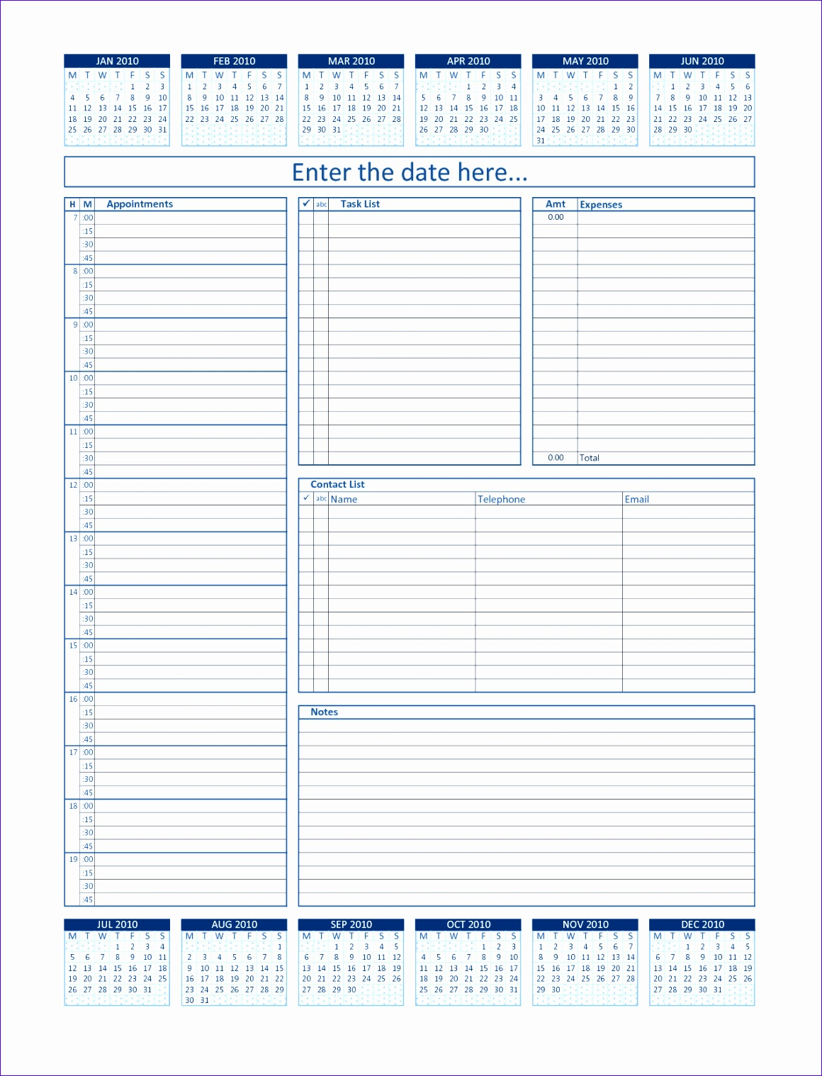 Work Schedule Template Excel 2010 U0nyg Inspirational Daily Project organizer Templates Free