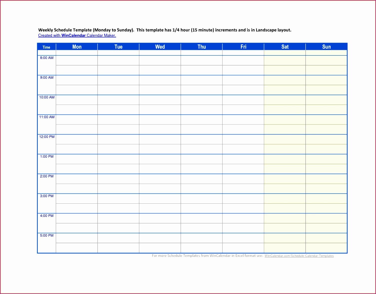 work calendar template excel
