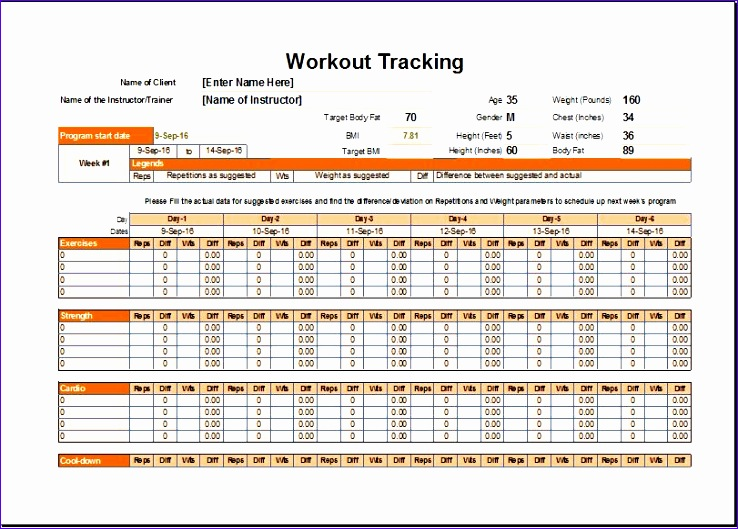 Workout Schedule Tracker Kvbws Lovely Workout Schedule & Tracker Template for Excel