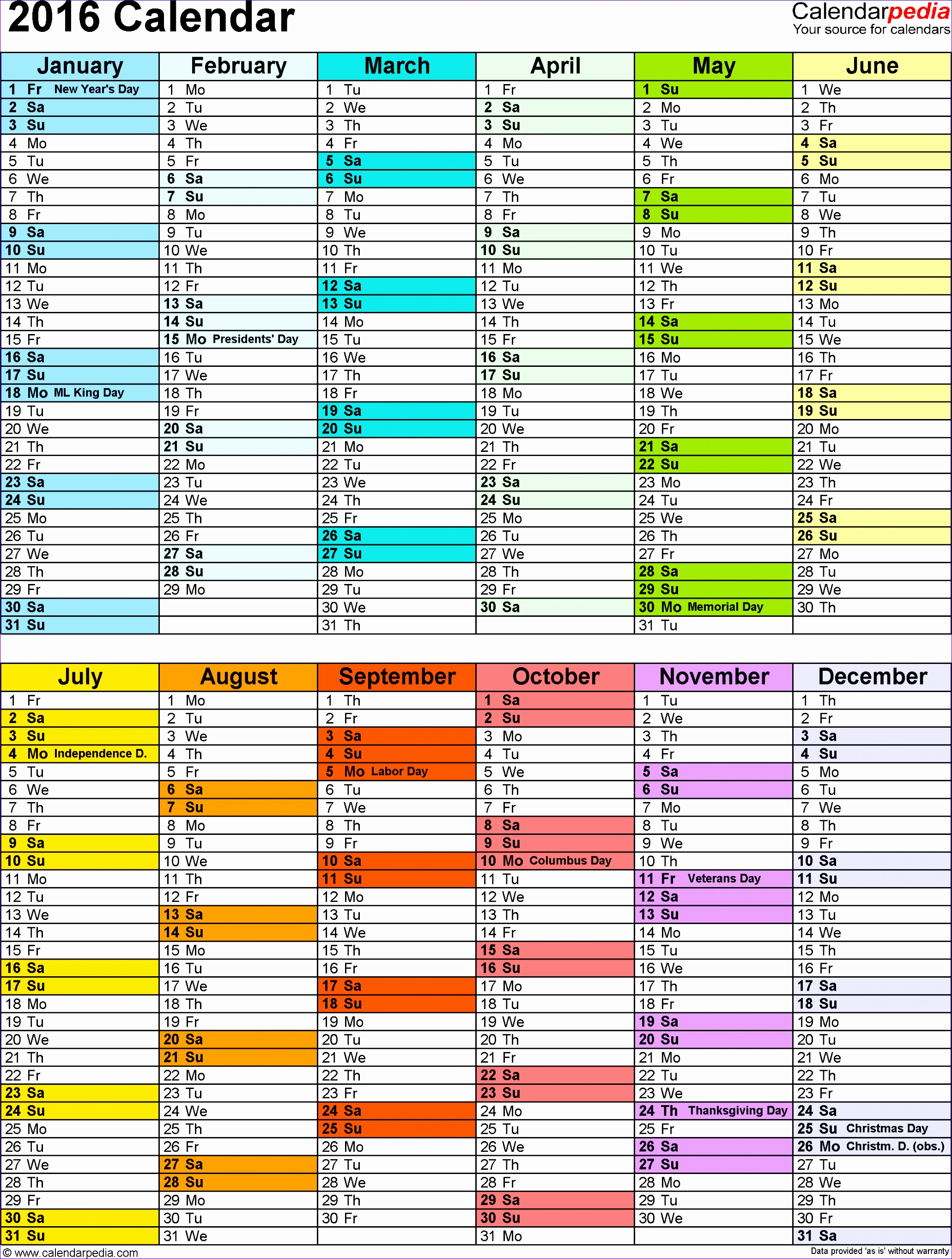 Yearly Schedule Template Excel